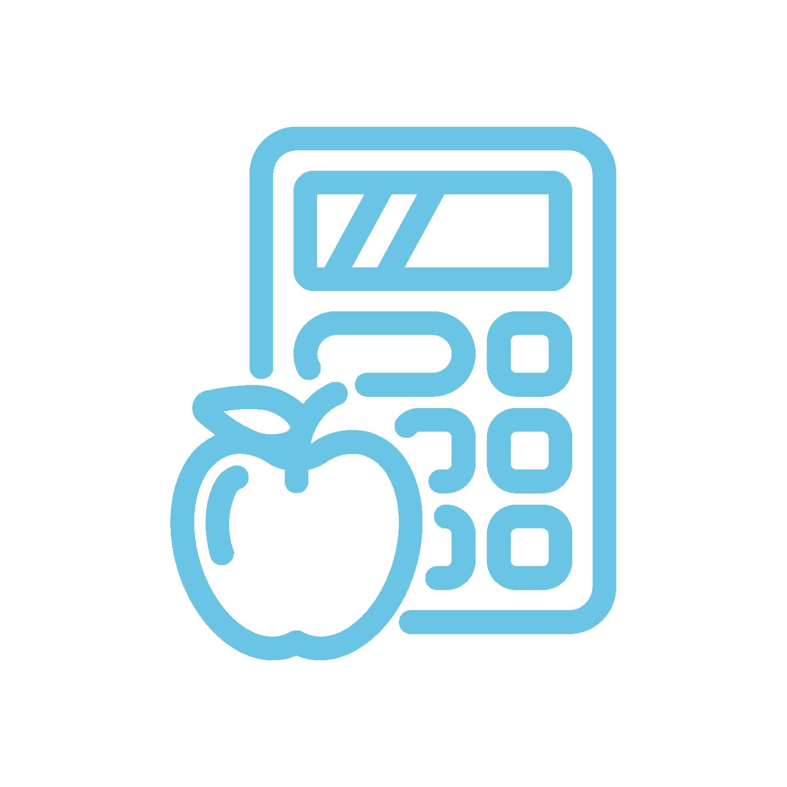 Ikona kalkulatora posiłków