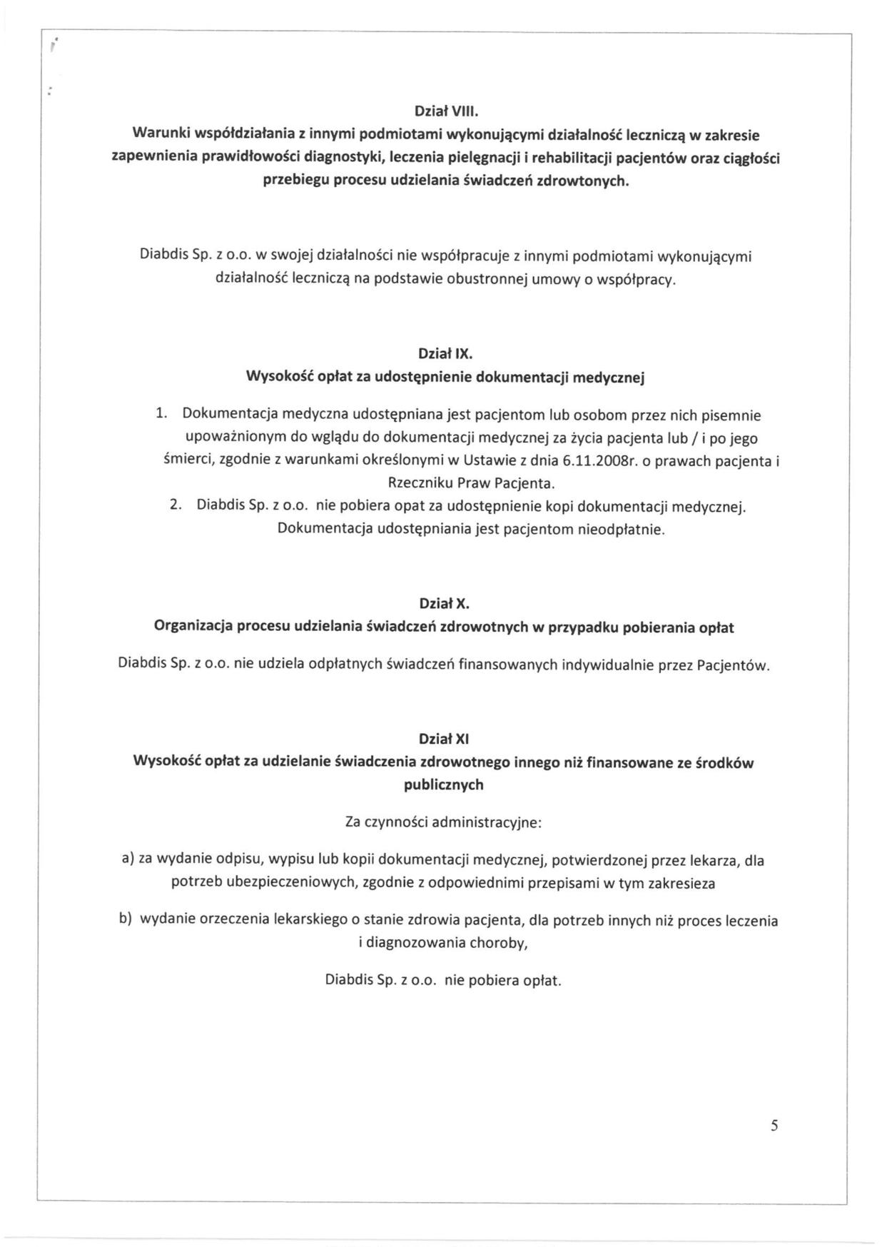 Regulamin organizacyjny, strona 5