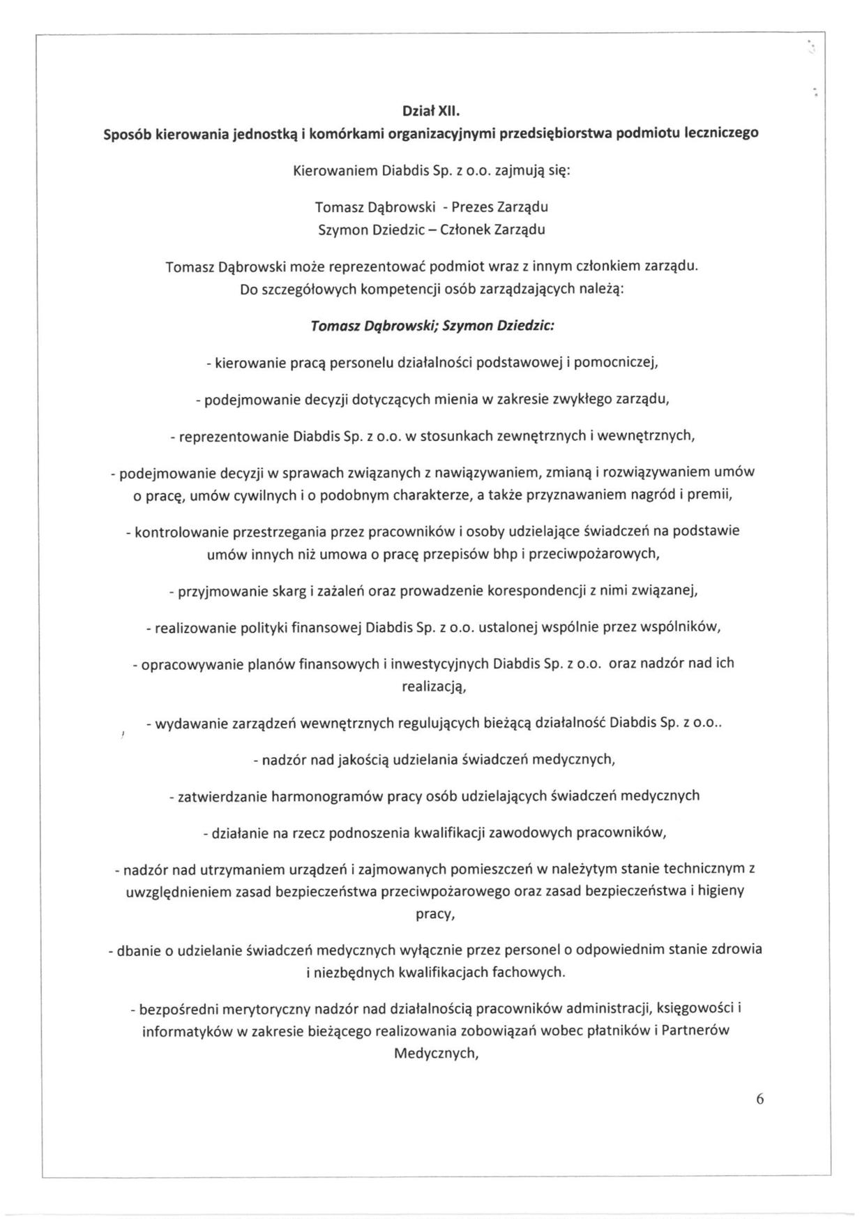Regulamin organizacyjny, strona 6
